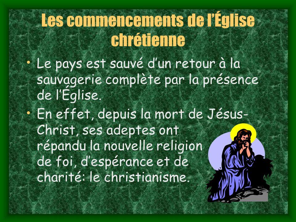 Les commencements de l'Église chrétienne