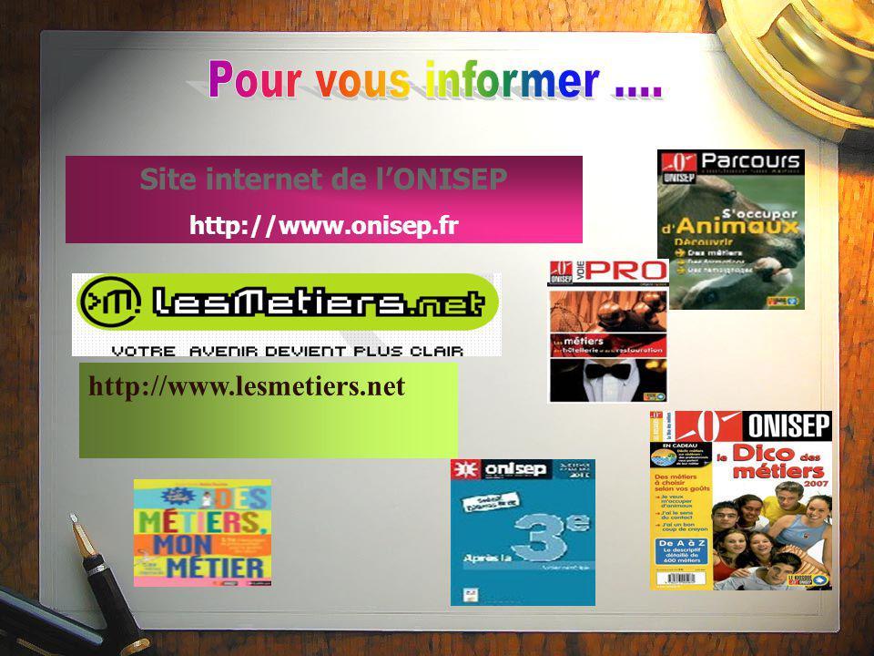 Site internet de l'ONISEP