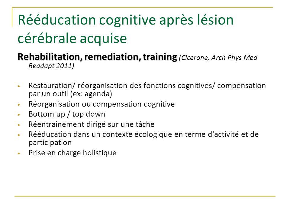 Rééducation cognitive après lésion cérébrale acquise