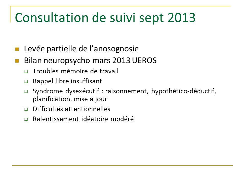 Consultation de suivi sept 2013
