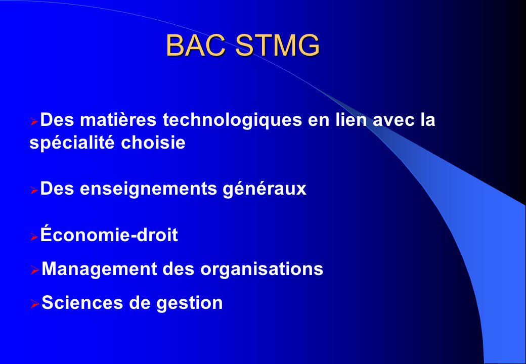 BAC STMG Management des organisations Sciences de gestion