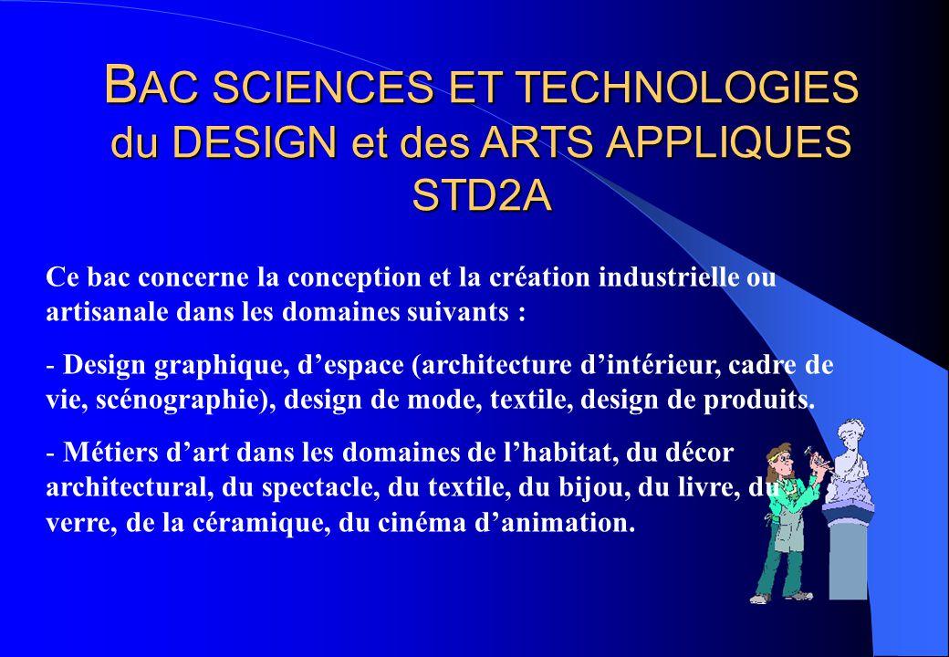 BAC SCIENCES ET TECHNOLOGIES du DESIGN et des ARTS APPLIQUES