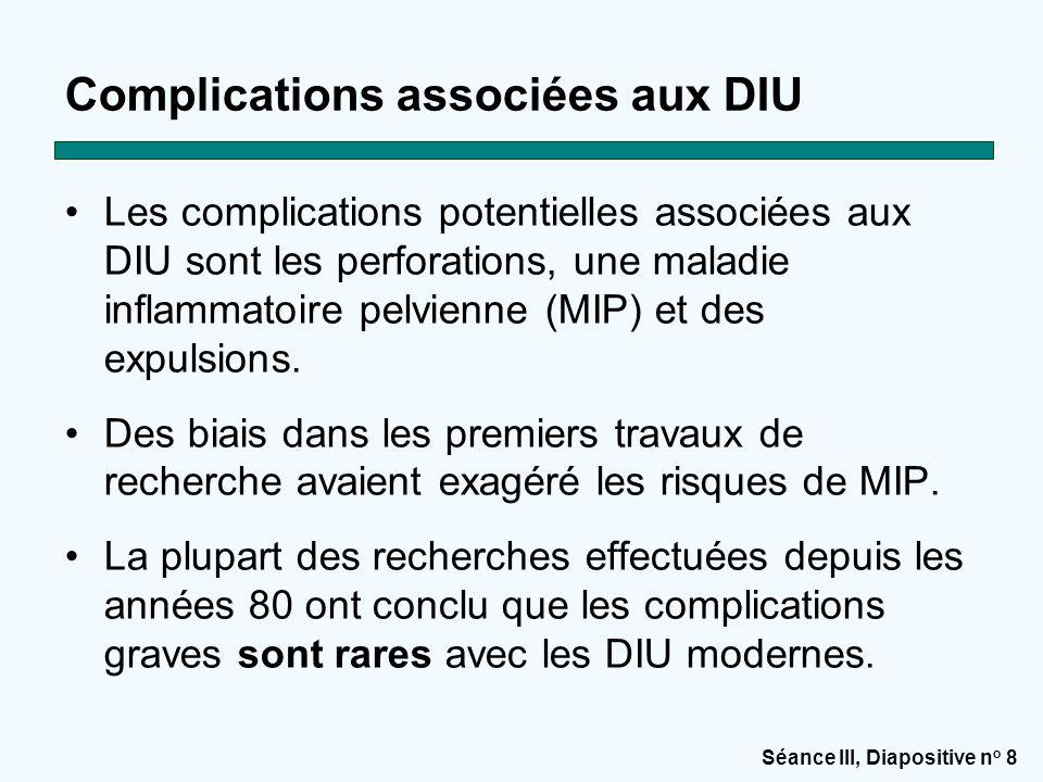 Complications associées aux DIU