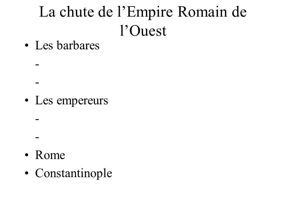 La chute de l'Empire Romain de l'Ouest