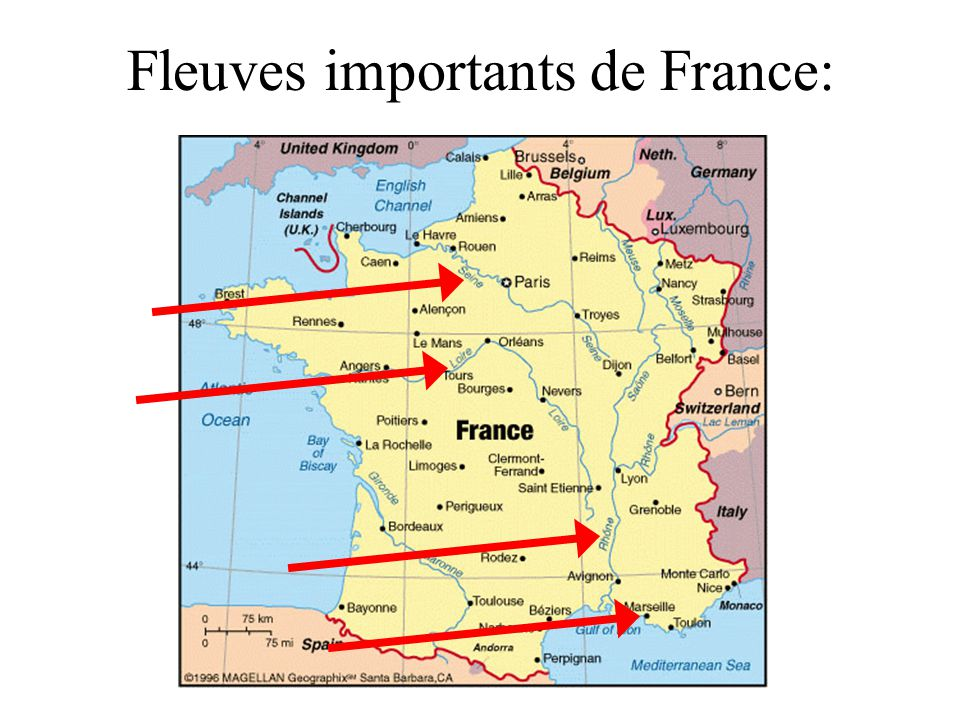 Fleuves importants de France: