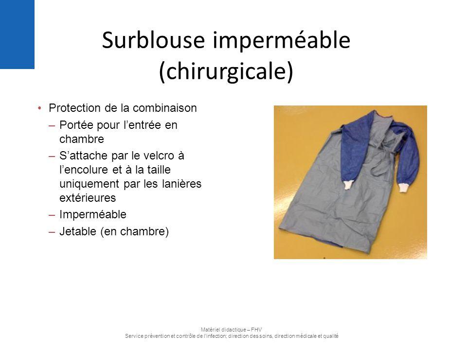 Surblouse imperméable (chirurgicale)