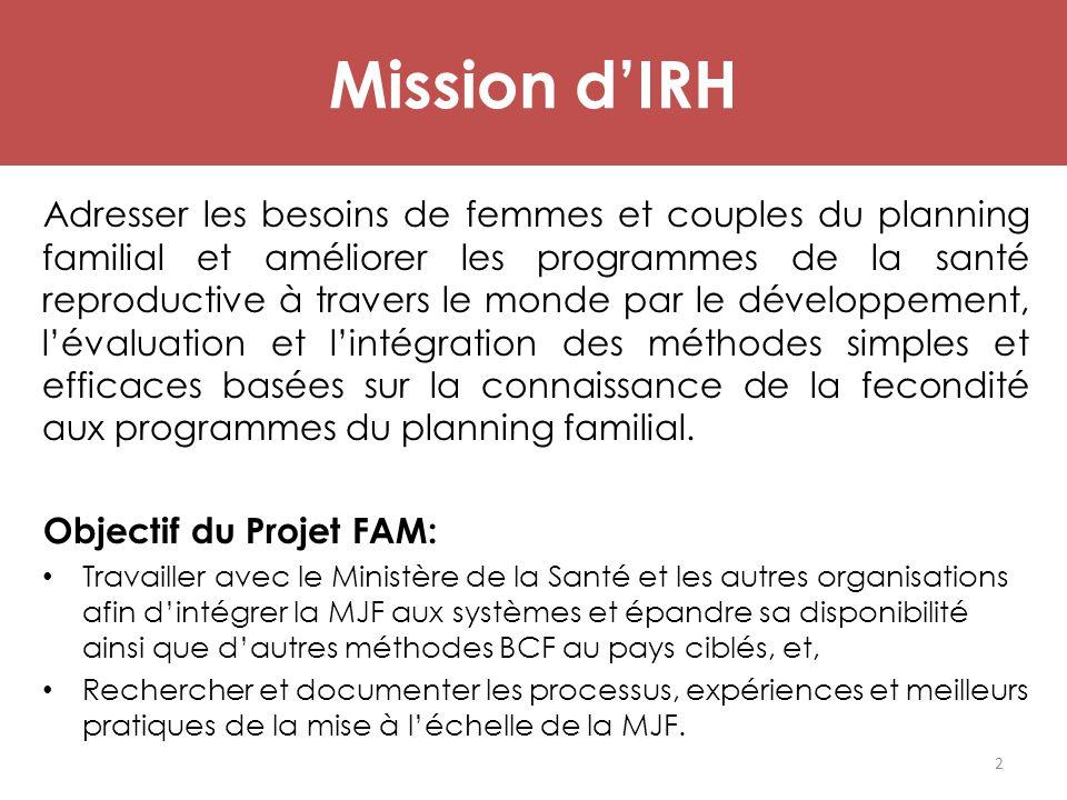 Mission d'IRH