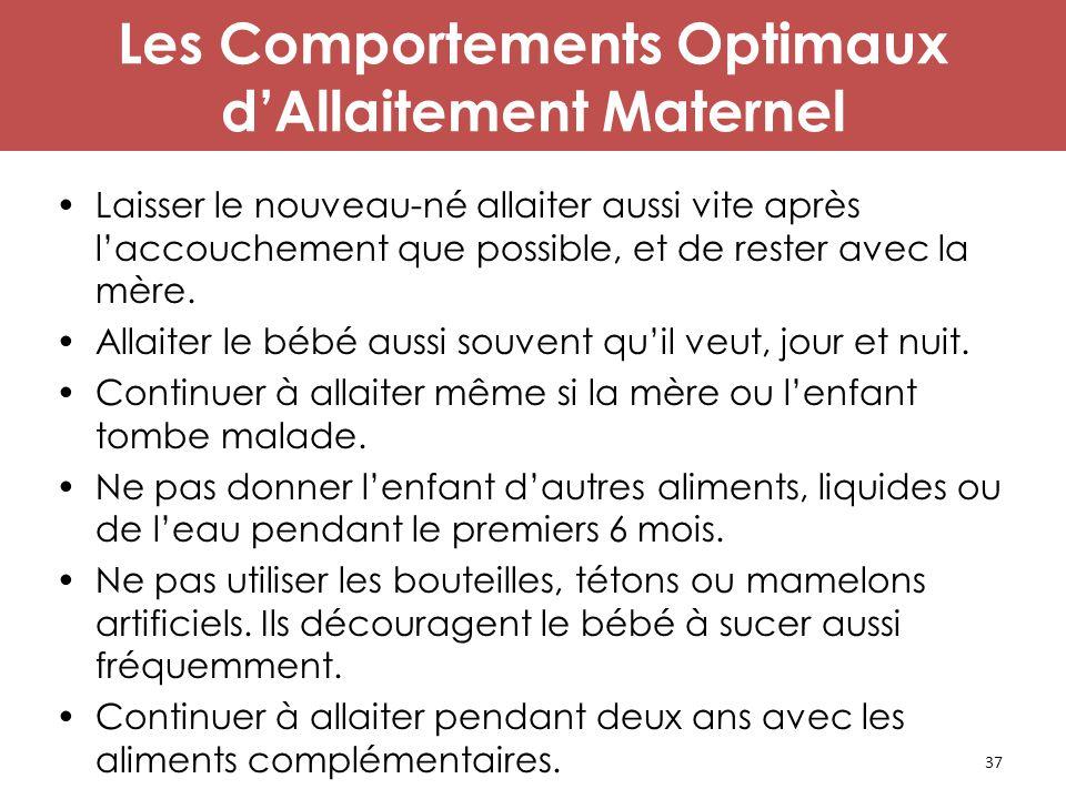 Les Comportements Optimaux d'Allaitement Maternel