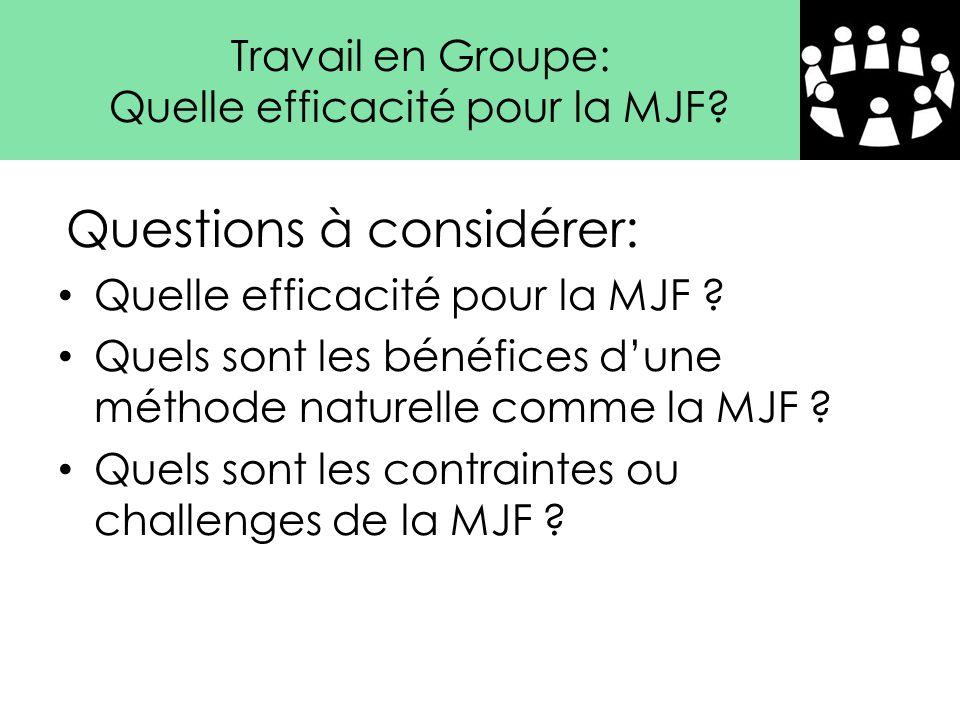 Quelle efficacité pour la MJF