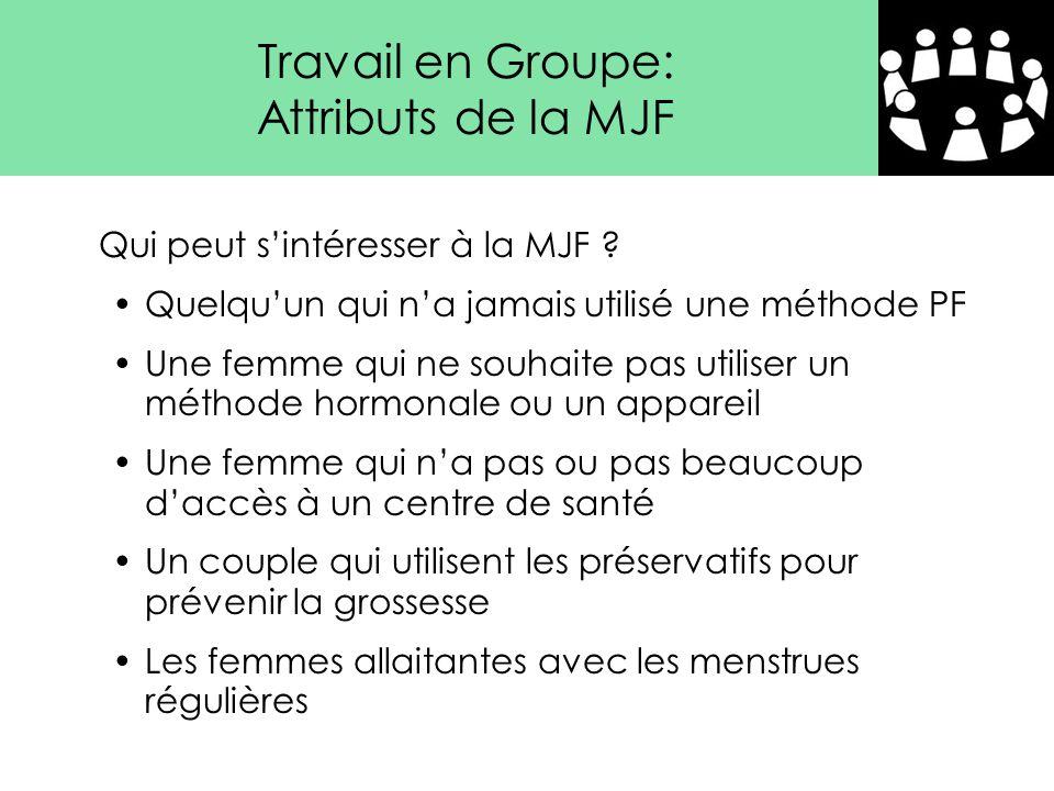 Travail en Groupe: Attributs de la MJF