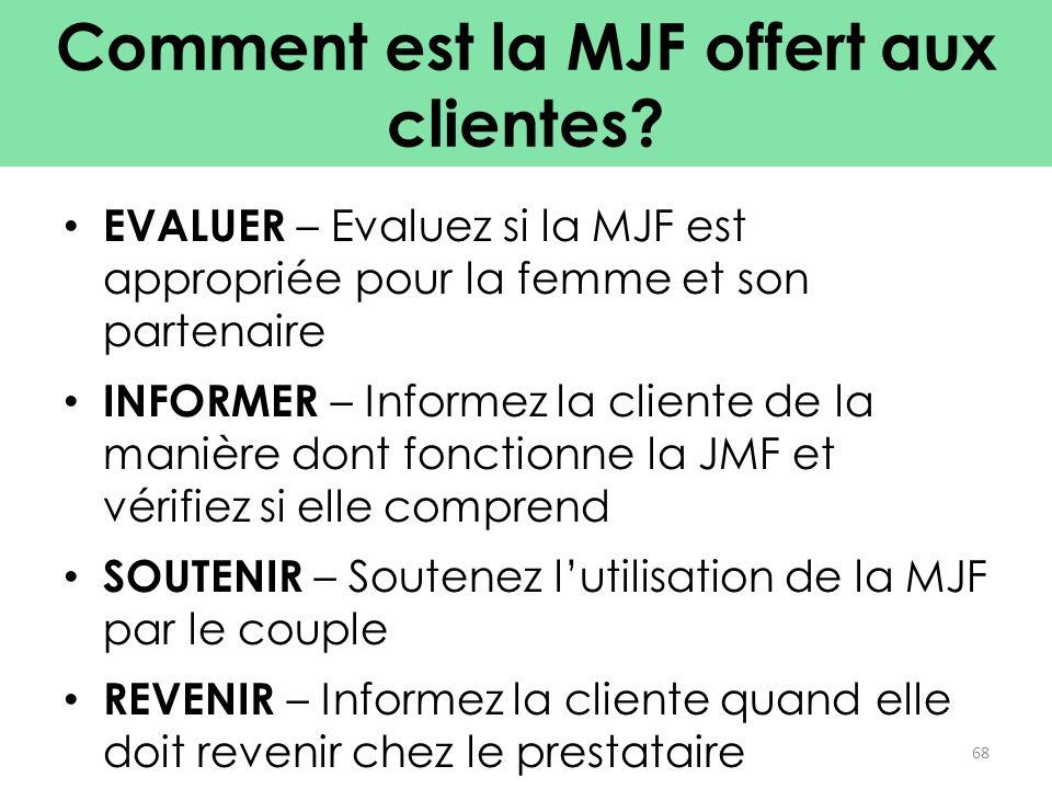 Comment est la MJF offert aux clientes