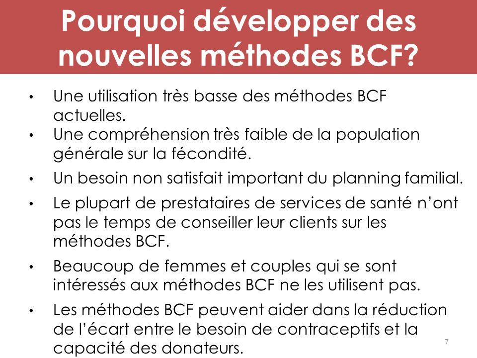 Pourquoi développer des nouvelles méthodes BCF