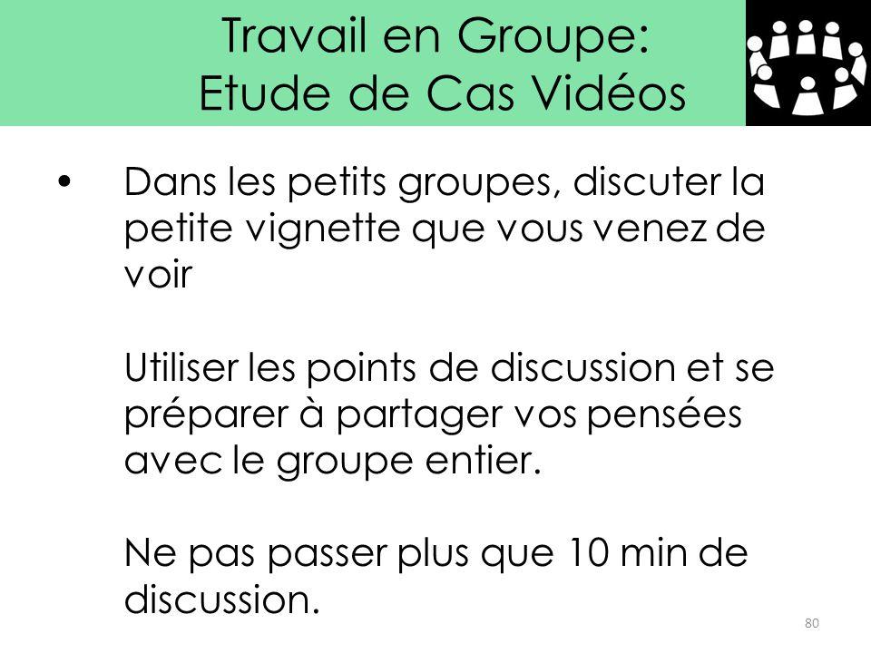 Travail en Groupe: Etude de Cas Vidéos