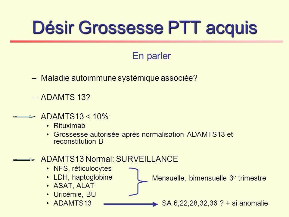 Désir Grossesse PTT acquis