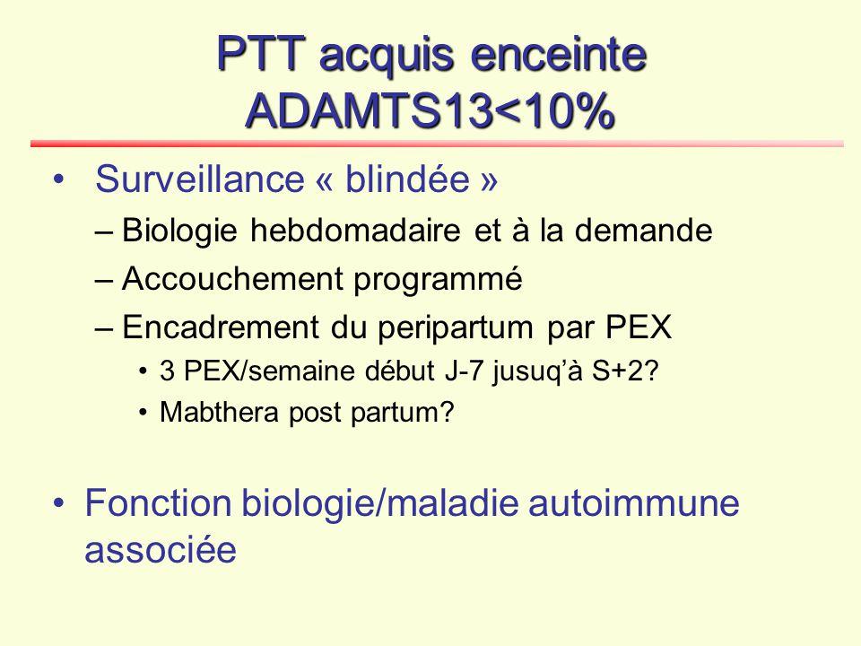 PTT acquis enceinte ADAMTS13<10%