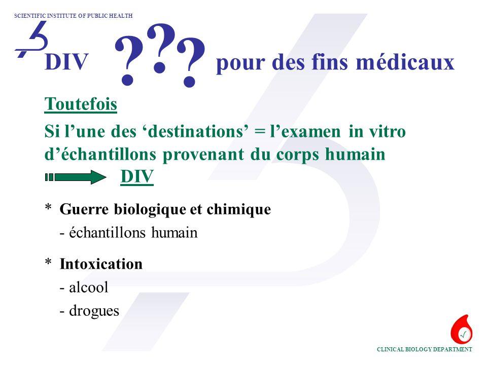 DIV pour des fins médicaux Toutefois