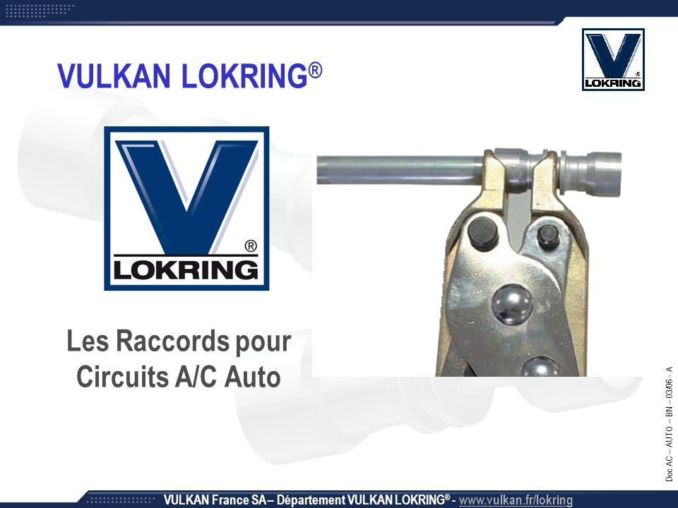 Les Raccords pour Circuits A/C Auto