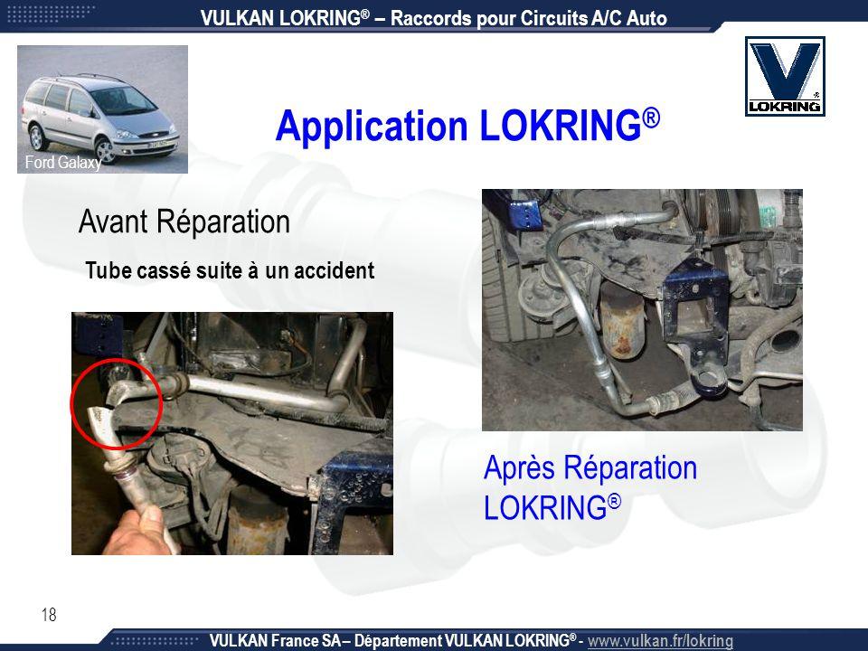 Application LOKRING® Avant Réparation Après Réparation LOKRING®
