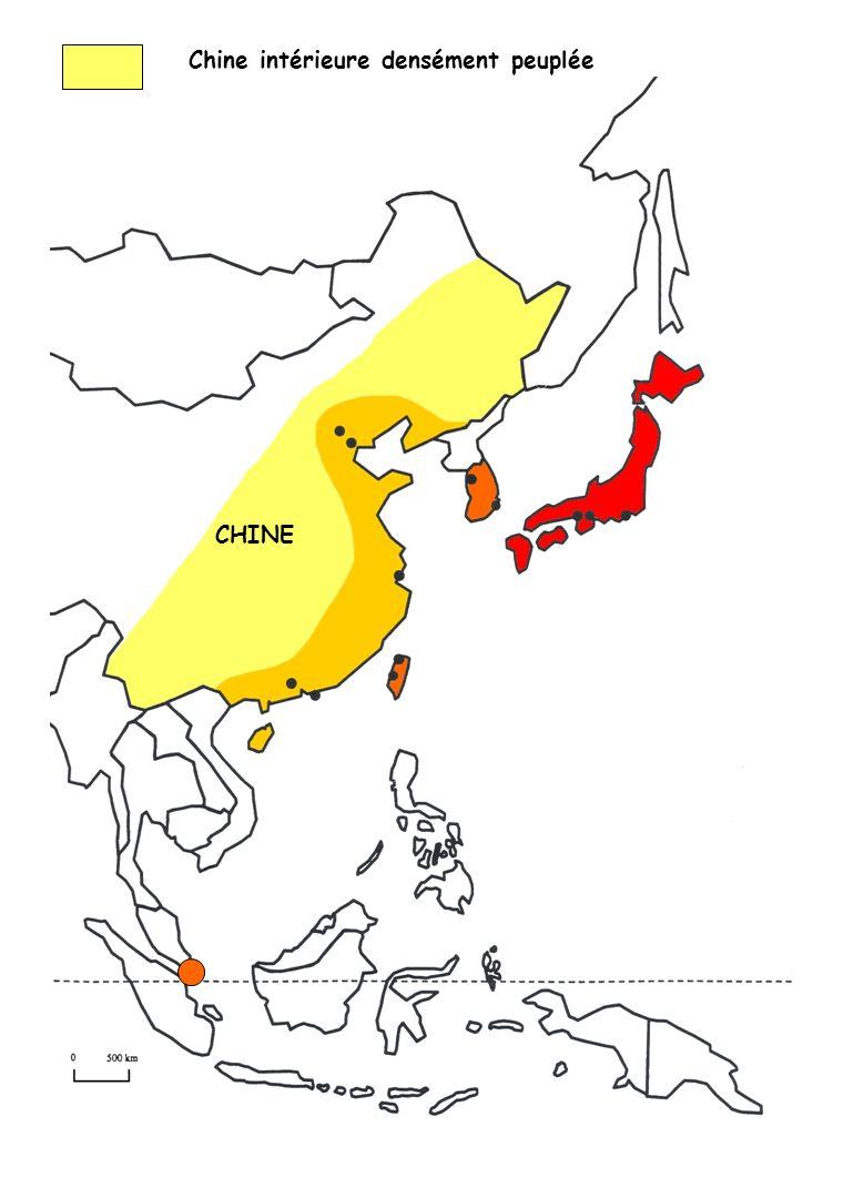 Chine intérieure densément peuplée
