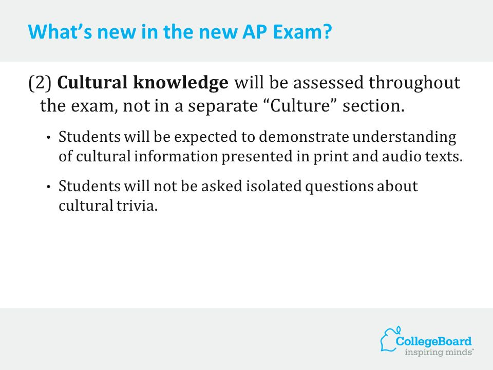 What's new in the new AP Exam