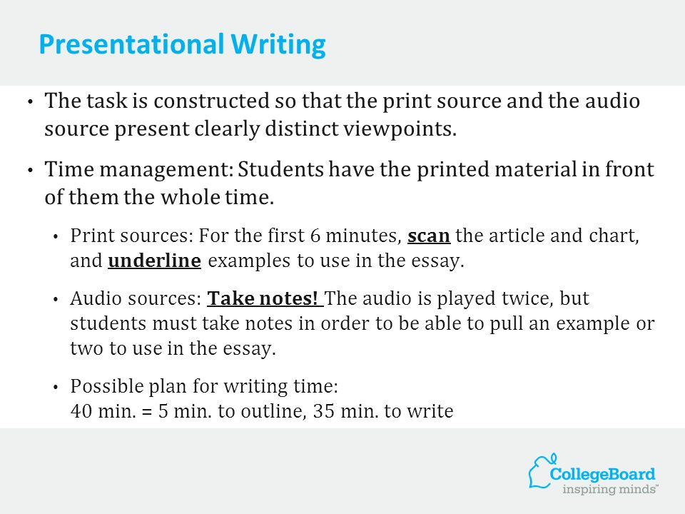 Presentational Writing