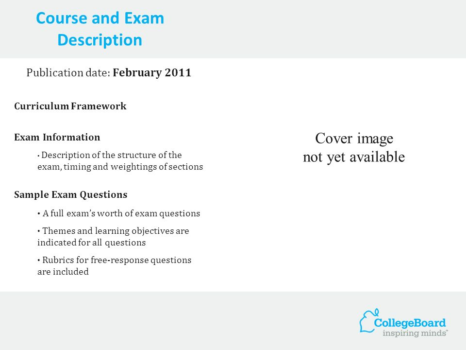 Course and Exam Description