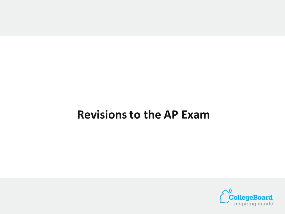 Revisions to the AP Exam