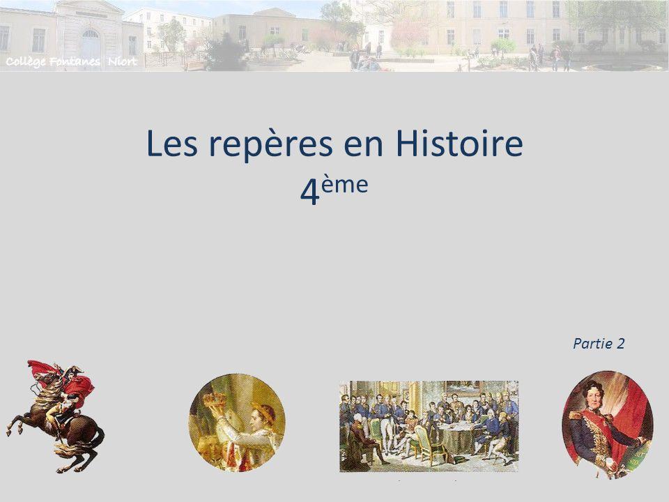 Les repères en Histoire 4ème