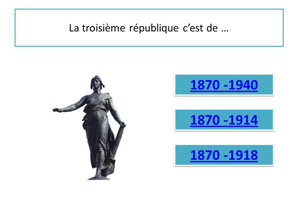 La troisième république c'est de …
