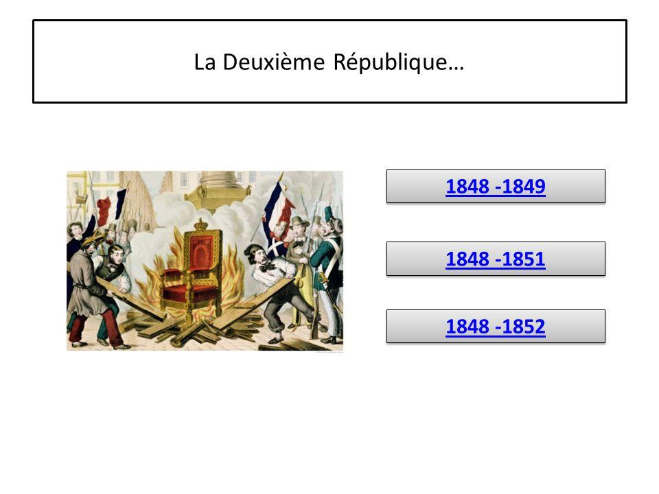 La Deuxième République…