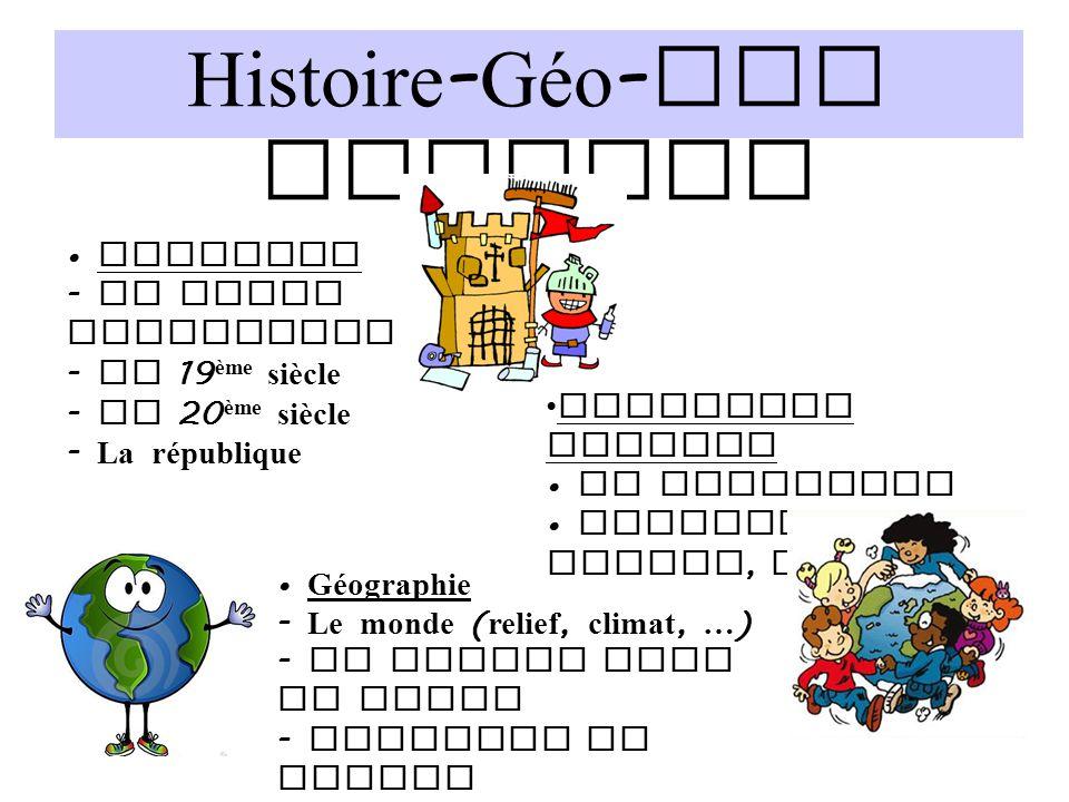 Histoire-Géo-Edu Civique