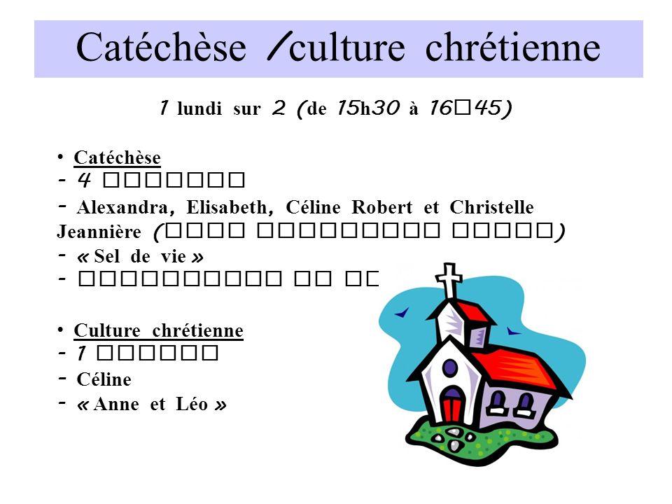 Catéchèse /culture chrétienne