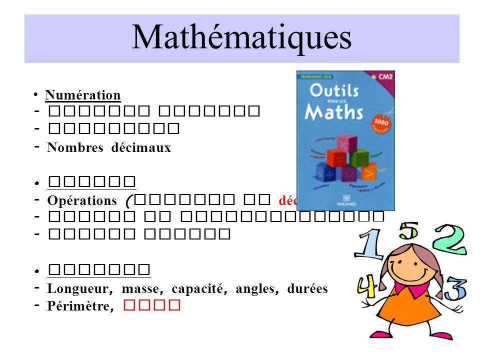 Mathématiques Numération Nombres entiers Fractions Nombres décimaux