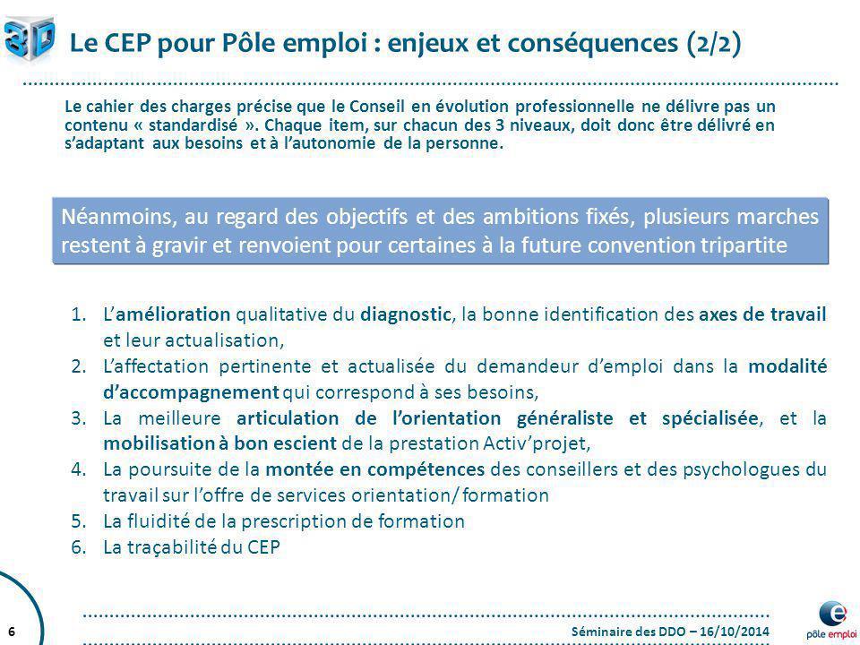 Le CEP pour Pôle emploi : enjeux et conséquences (2/2)