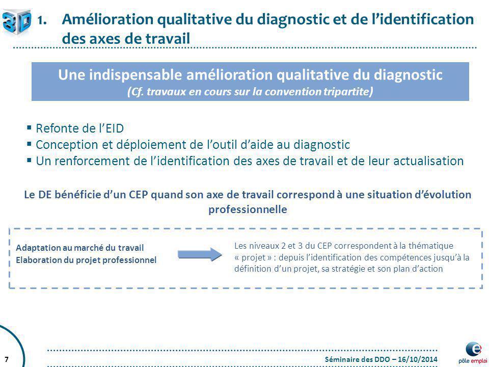 Une indispensable amélioration qualitative du diagnostic