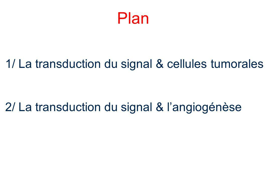Plan 1/ La transduction du signal & cellules tumorales