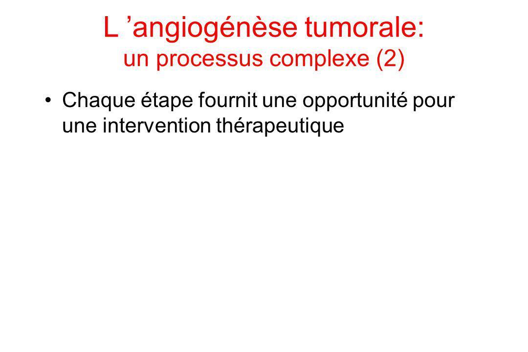 L 'angiogénèse tumorale: un processus complexe (2)