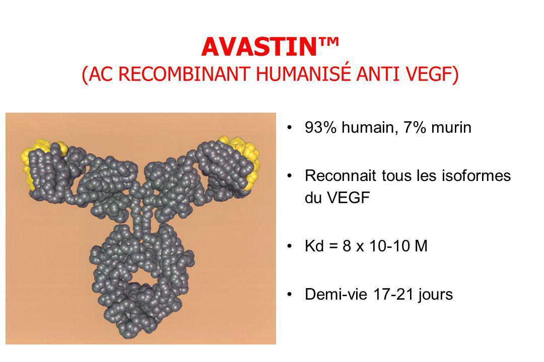 AVASTIN™ (AC RECOMBINANT HUMANISÉ ANTI VEGF)
