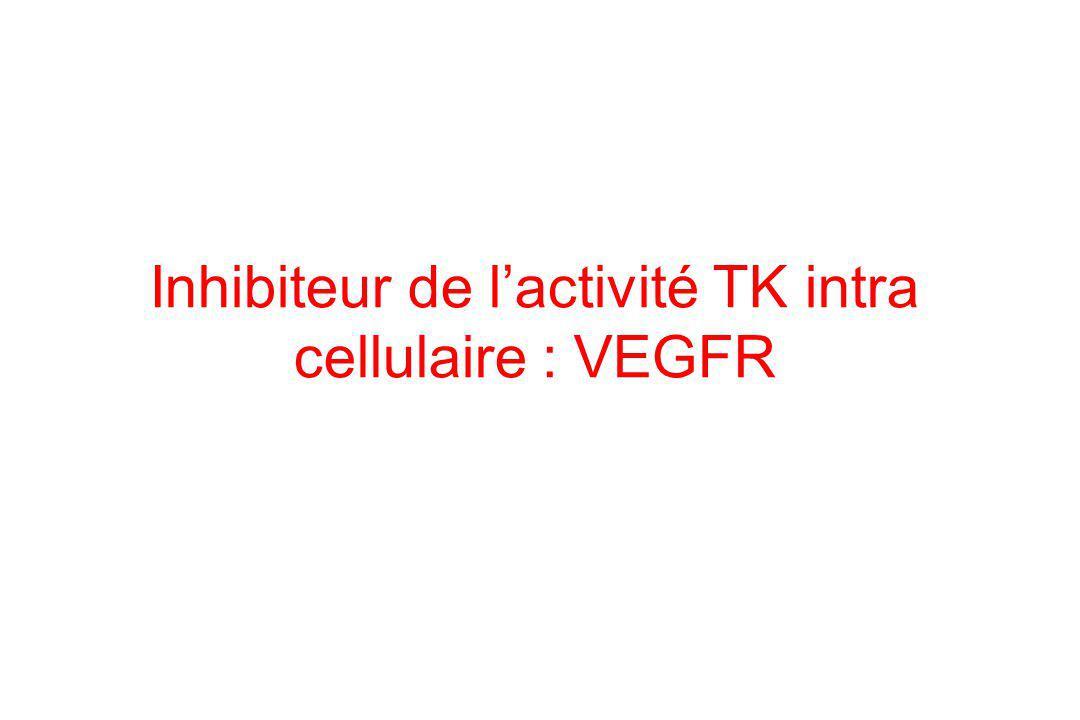 Inhibiteur de l'activité TK intra cellulaire : VEGFR