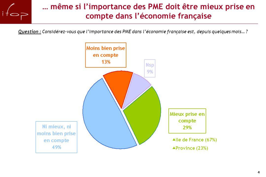 Une vision majoritairement optimiste de son entreprise et dans une moindre mesure de l'économie française