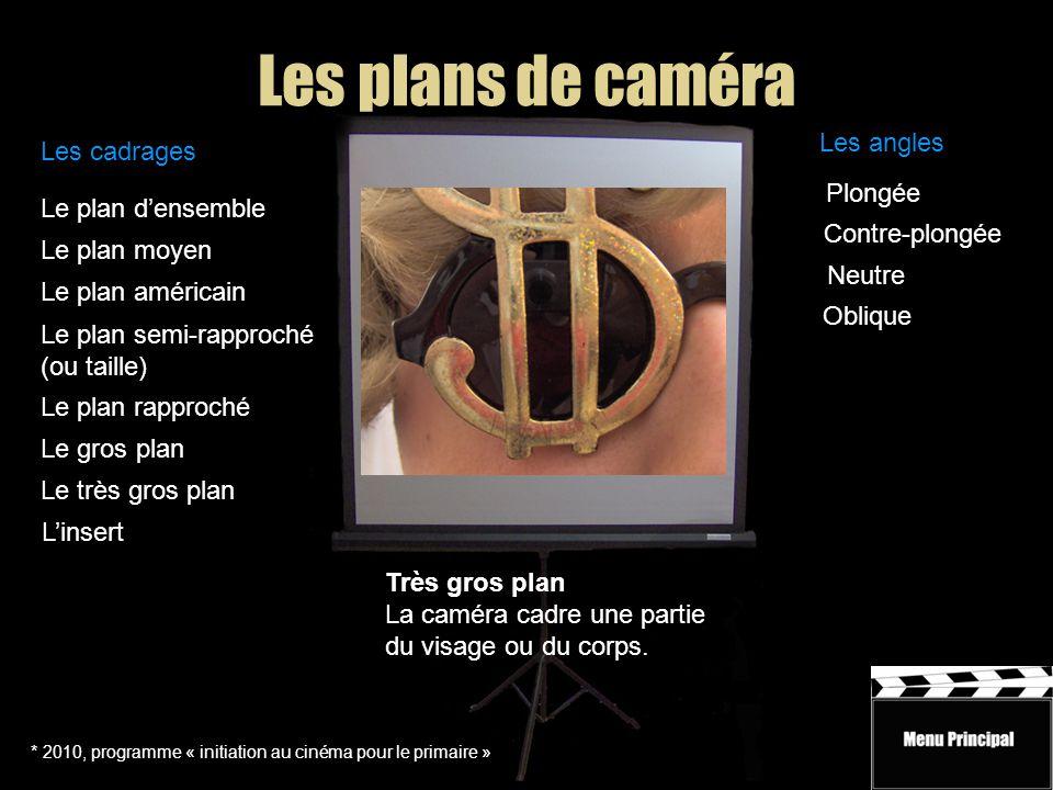 Les plans de caméra Les angles Les cadrages Plongée Le plan d'ensemble