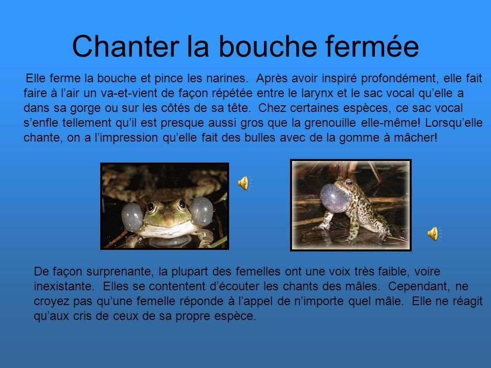 Chanter la bouche fermée