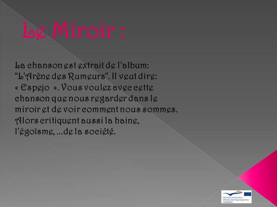 Le Miroir :