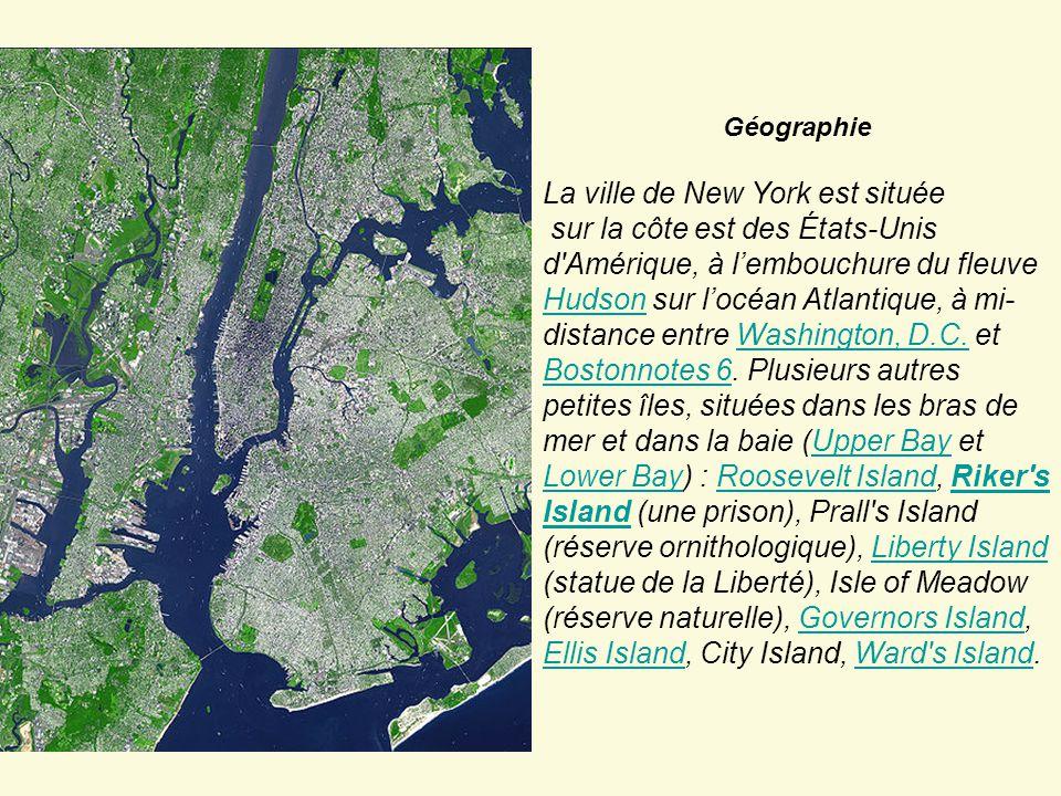 La ville de New York est située