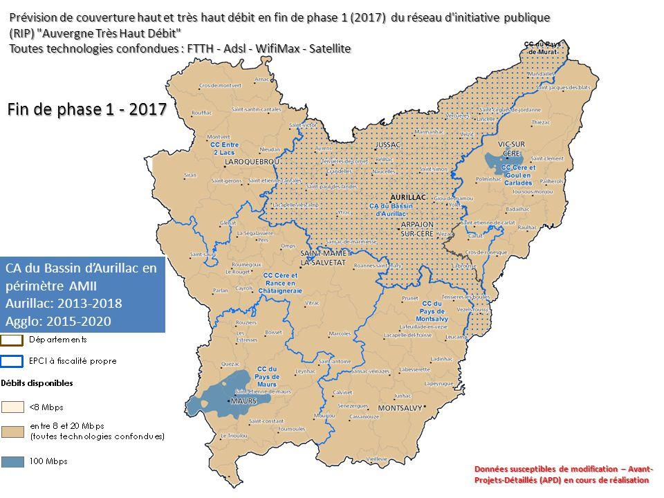Fin de phase 1 - 2017 CA du Bassin d'Aurillac en périmètre AMII