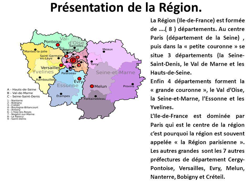 Présentation de la Région.