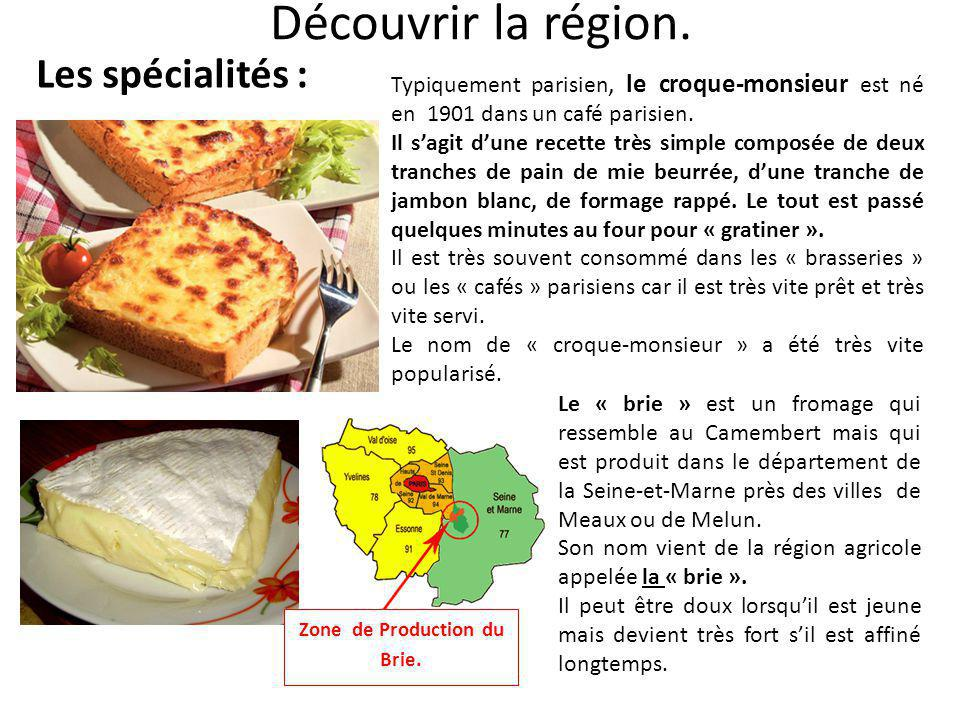 Zone de Production du Brie.