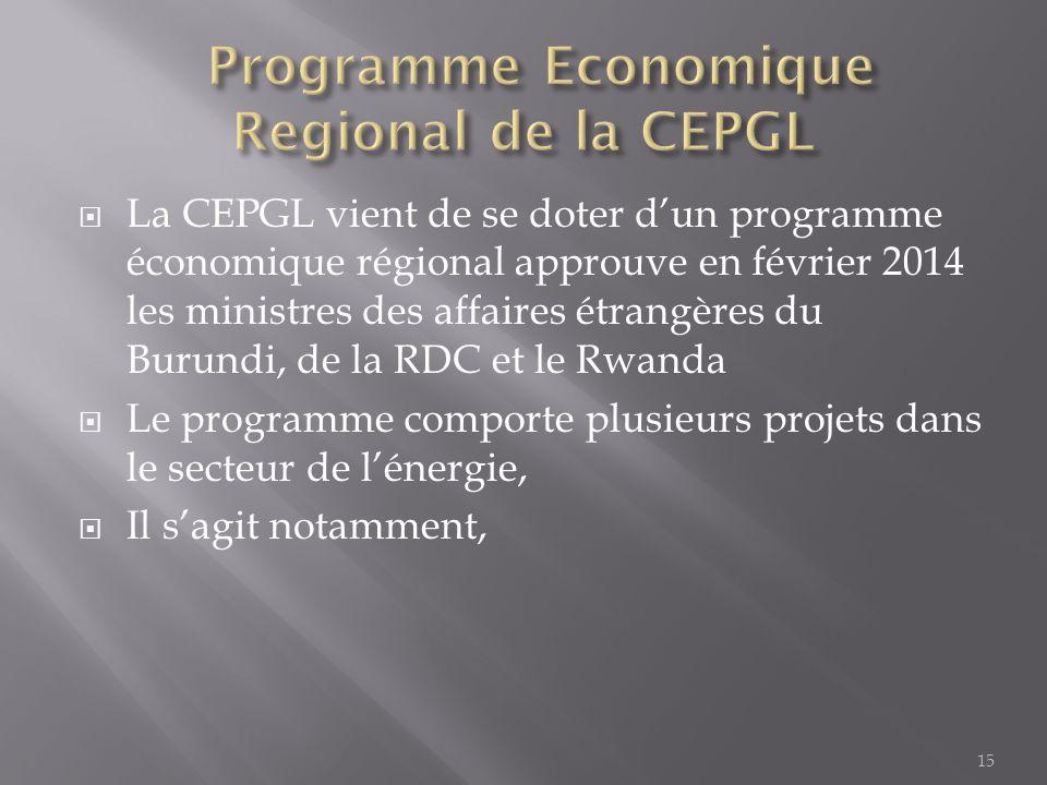 Programme Economique Regional de la CEPGL