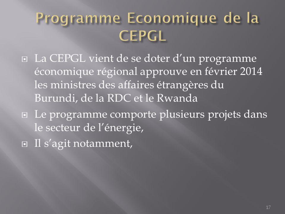 Programme Economique de la CEPGL