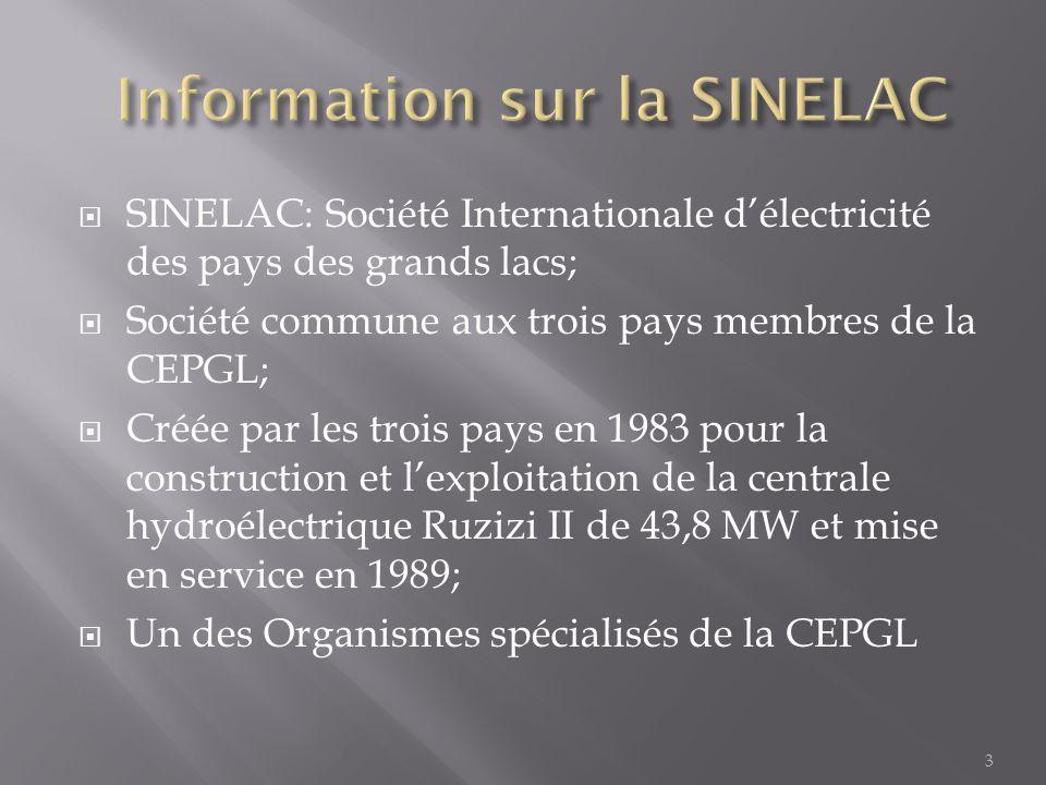 Information sur la SINELAC